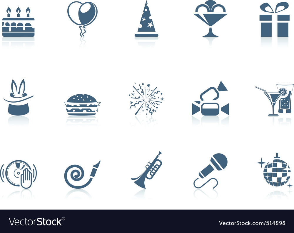 Birthday icons piccolo series vector