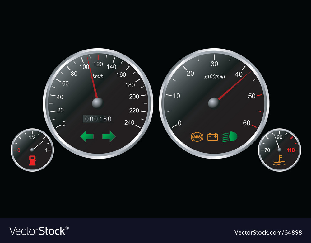 Cars dashboard vector