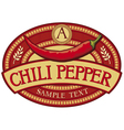 chili pepper label vector image vector image
