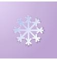Single Paper Snowflake vector image