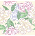 Seamless pattern pink with peonies vector image