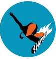 Extreme winter snowboarder vector image