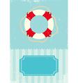 buoy grunge vector image vector image