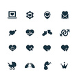 couple love icons set vector image