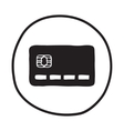 Doodle Credit Card icon vector image