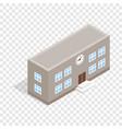 school building isometric icon vector image