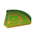 3D Baseball Field vector image