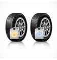 Season rubber wheels on white vector image vector image
