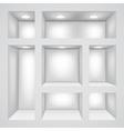 Empty shelves vector image vector image