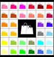 shopping bags sign  felt-pen 33 colorful vector image