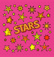 stars doodle collection of star shapes vector image