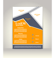 Flyer brochure or magazine cover template vector image vector image