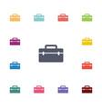 tools box flat icons set vector image