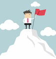 Businessman go to the top of mountain vector image vector image