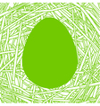 Straw nest with big egg vector image