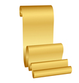 gold scroll vector image vector image