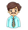 A businessman with a beard vector image
