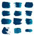 brush stroke blue paint abstract white background vector image