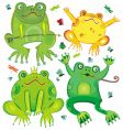 cute frogs vector image