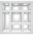 Empty shelves vector image