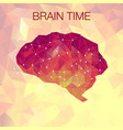 human polygonal brain vector image