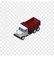 isolated autotruck isometric freight vector image