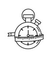 line chronometer with measuring to practice vector image