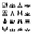 meeting conference icon vector image
