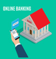 online banking isometric projection concept vector image