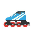 roller skate skating retro isolated vector image
