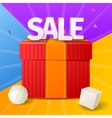 sale banner with colorful background vector image