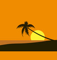 seaside view poster beach wallpaper vector image