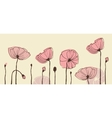Hand-drawn poppies banner vector image
