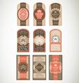 Vintage label Style with nine Design Element vector image