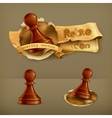 Chess Pawn icon vector image