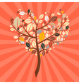 Abstract Retro Heart Shaped Tree vector image vector image