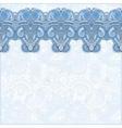 ornamental background with blue colour flower vector image