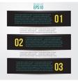 Simple black horizontal banners vector image