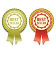 Bestseller Label eps 10 vector image