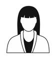 Spa massage therapist icon vector image