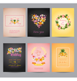 Tropical Flowers Card Set - for Wedding Birthday vector image