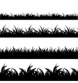 Seamless grass black silhouette set vector image