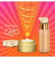 Skin Cream and Emulsion with Coenzyme Q10 vector image