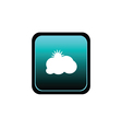 button of cloud with sun vector image