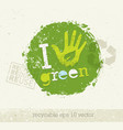 go green recycle reduce reuse eco poster concept vector image
