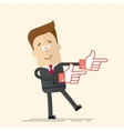 Happy businessman or manager It shows side his vector image