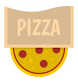 pizza emblem for pizzeria icon isolated vector image