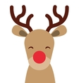 reindeer christmas character isolated icon vector image