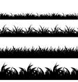 Seamless grass black silhouette set vector image