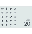 Set of lighting icons vector image